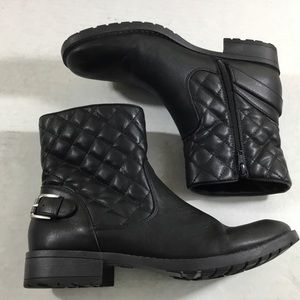 Bass Taylor Vegan Leather Quilted Shaft Ankle Boot
